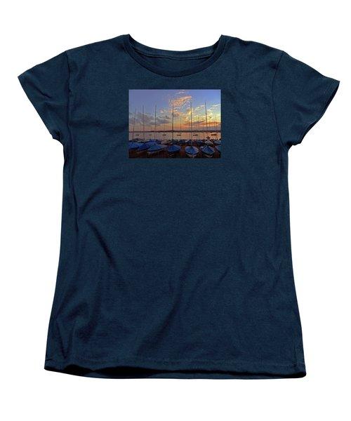 Women's T-Shirt (Standard Cut) featuring the photograph Estuary Evening by Anne Kotan