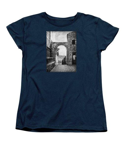 Etruscan Arch B/w Women's T-Shirt (Standard Cut) by Hanny Heim