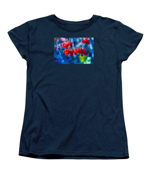 Women's T-Shirt (Standard Cut) featuring the photograph European Cranberry Berries by Alexander Senin