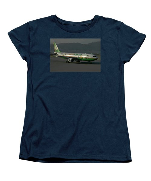 Eva Air Airbus A330-203 Women's T-Shirt (Standard Cut) by Tim Beach