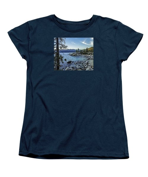 Evening At The Harbor-edit Women's T-Shirt (Standard Cut) by Nancy Marie Ricketts