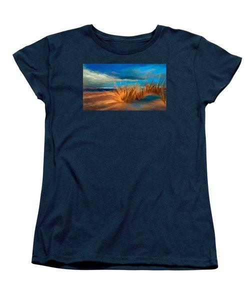 Evening Beach Dunes Women's T-Shirt (Standard Cut) by Anthony Fishburne