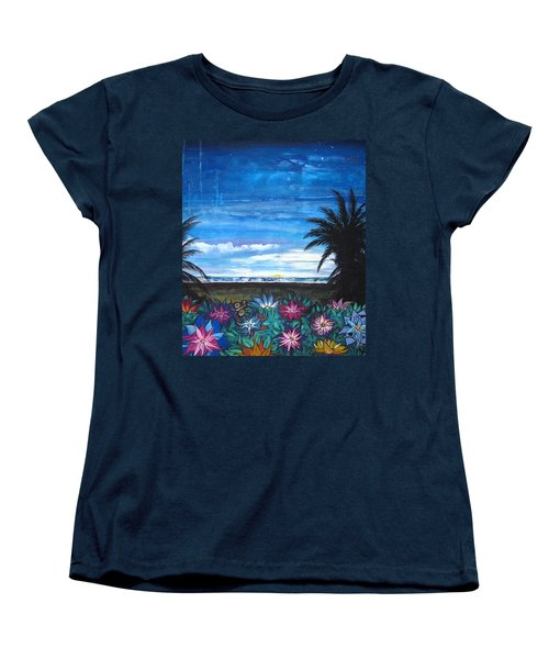 Tropical Evening Women's T-Shirt (Standard Cut) by Mary Ellen Frazee