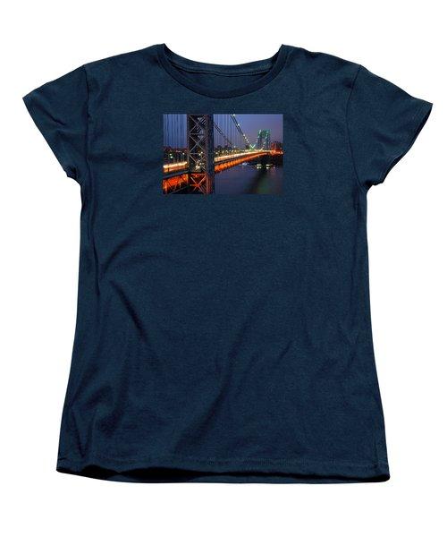 Evening On The George Washington Bridge Women's T-Shirt (Standard Cut)