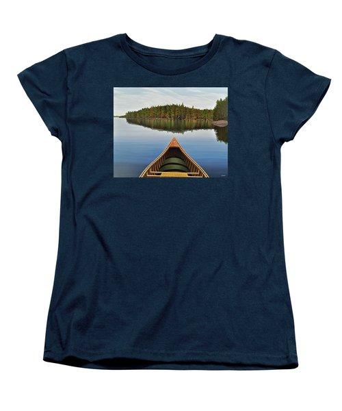 Evening Paddle  Women's T-Shirt (Standard Cut) by Kenneth M  Kirsch