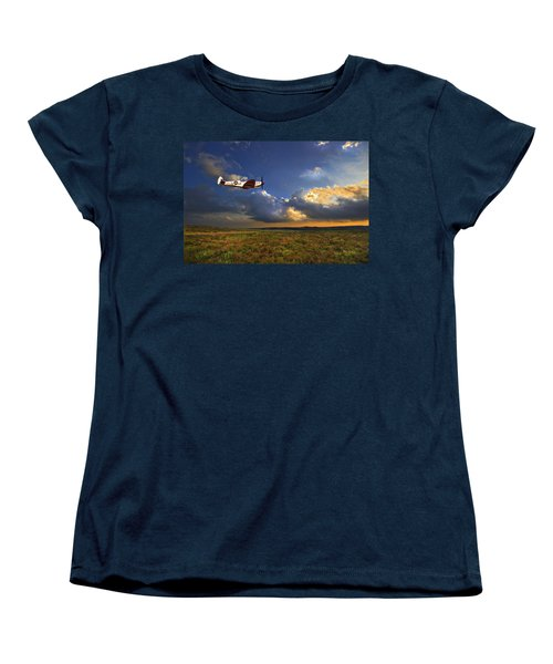Evening Spitfire Women's T-Shirt (Standard Cut) by Meirion Matthias