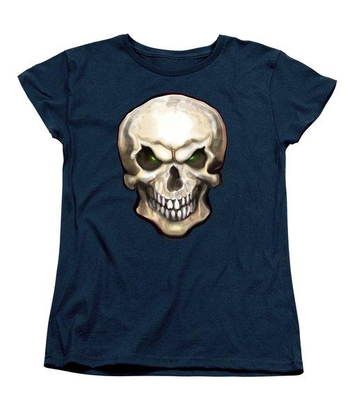 Evil Skull Women's T-Shirt (Standard Cut) by Kevin Middleton