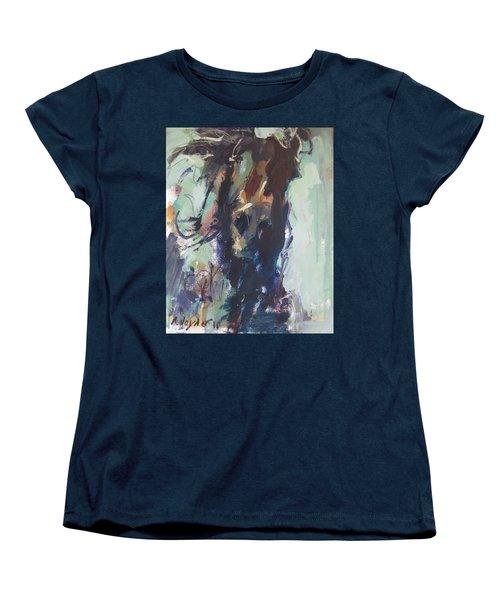Women's T-Shirt (Standard Cut) featuring the painting Expressive by Robert Joyner