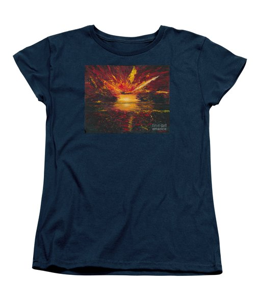 Women's T-Shirt (Standard Cut) featuring the painting Eye Of The Storm by Ania M Milo