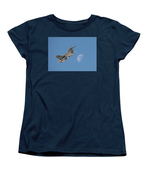 Women's T-Shirt (Standard Cut) featuring the photograph F16 - Aiming High by Pat Speirs