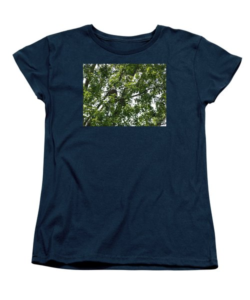 Face The Eagle Women's T-Shirt (Standard Cut) by Donald C Morgan