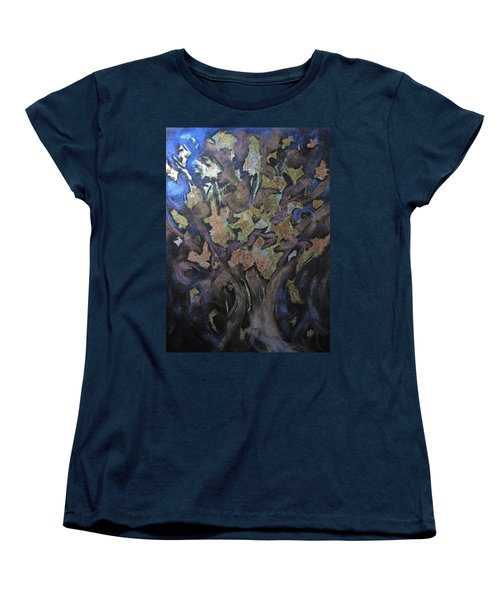 Faces Women's T-Shirt (Standard Cut) by Roberta Rotunda