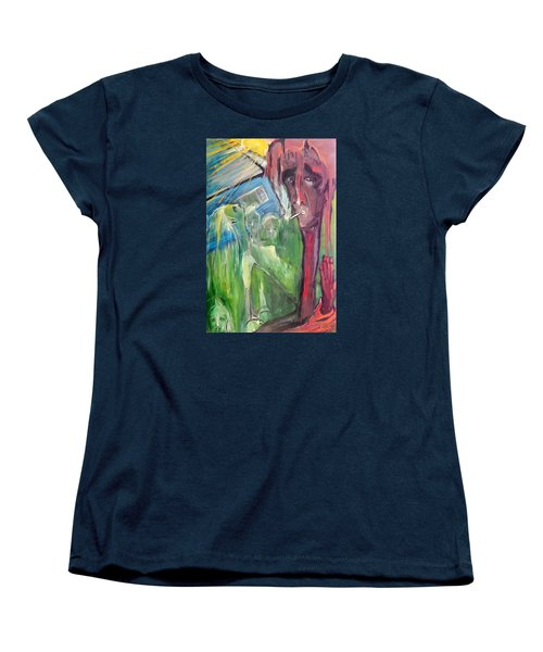 Women's T-Shirt (Standard Cut) featuring the painting Faintly Visionary by Kenneth Agnello