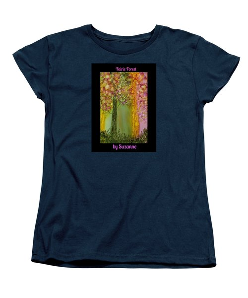Fairie Forest Women's T-Shirt (Standard Cut) by Suzanne Canner