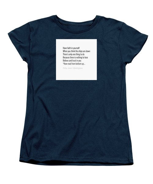 Faith Women's T-Shirt (Standard Cut) by Patsy Jawo