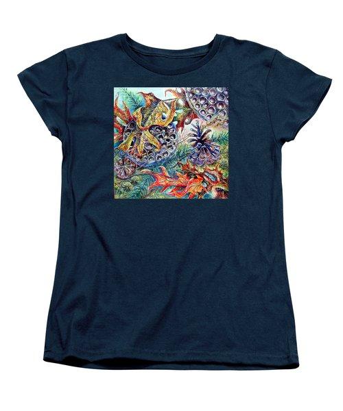 Fall Affair Women's T-Shirt (Standard Cut) by Linda Shackelford