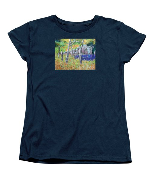 Fall  Along The Highwy  Women's T-Shirt (Standard Cut) by Rae  Smith