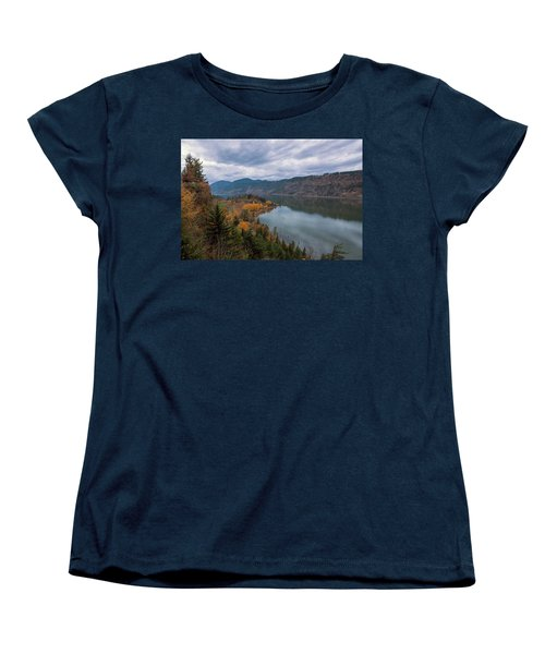 Fall Color At Ruthton Point In Hood River Oregon Women's T-Shirt (Standard Fit)