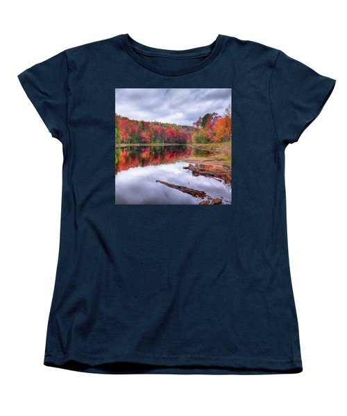 Women's T-Shirt (Standard Cut) featuring the photograph Fall Color At The Pond by David Patterson