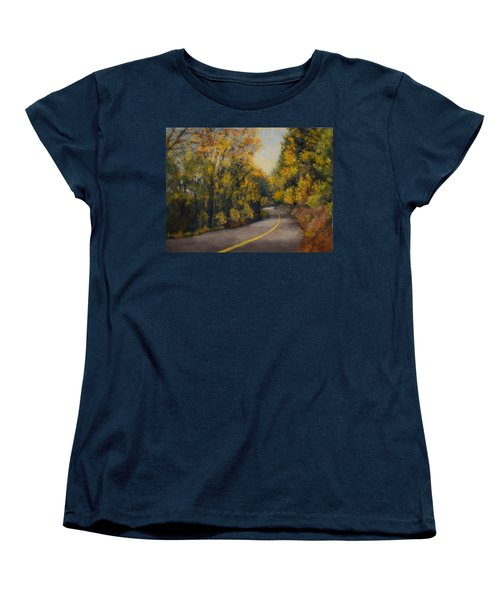 Women's T-Shirt (Standard Cut) featuring the painting Fall Color by Nancy Jolley