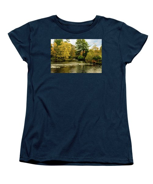 Fall Colour On The River Ness Islands Women's T-Shirt (Standard Cut) by Jacqi Elmslie