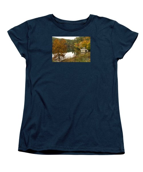 Women's T-Shirt (Standard Cut) featuring the photograph Fall Fishing by Barbara Bowen