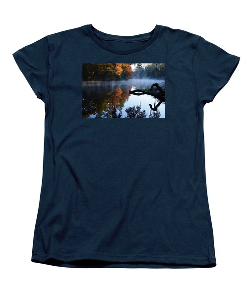 Fall Fog Women's T-Shirt (Standard Cut) by Warren Thompson
