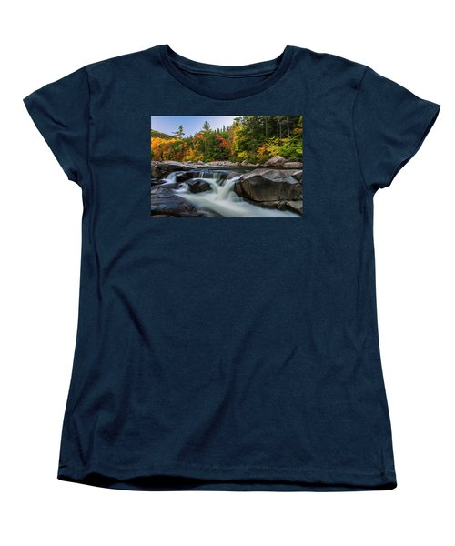 Fall Foliage Along Swift River In White Mountains New Hampshire  Women's T-Shirt (Standard Cut) by Ranjay Mitra
