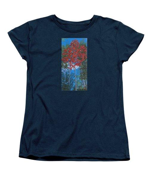 Fall In Asheville Women's T-Shirt (Standard Cut) by Anne Marie Brown