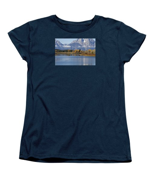 Women's T-Shirt (Standard Cut) featuring the photograph Fall Inteton -3 by Shirley Mitchell