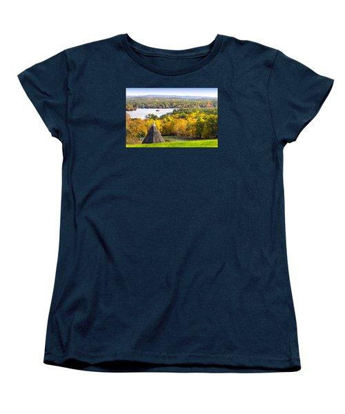 Women's T-Shirt (Standard Cut) featuring the photograph Fall On Lake Winnipesaukee At Center Harbor by Betty Denise