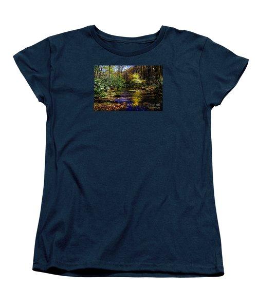Fall On Rough Creek Women's T-Shirt (Standard Cut) by Paul Mashburn