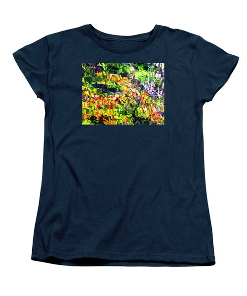 Fall On The Pond Women's T-Shirt (Standard Cut) by Melissa Stoudt