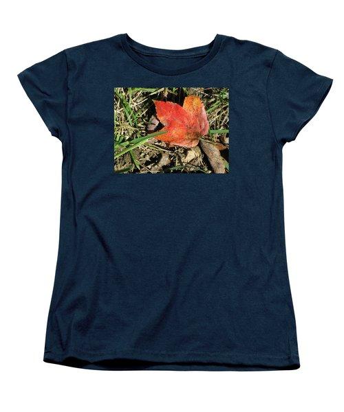 Fallen Leaf Women's T-Shirt (Standard Cut) by Michele Wilson