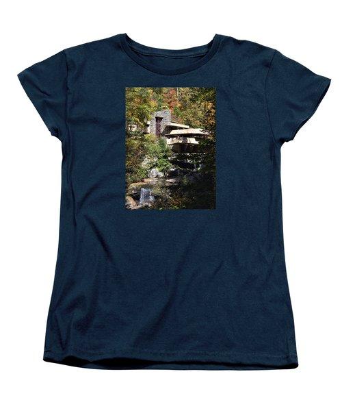 Fallingwater By Frank Lloyd Wright Women's T-Shirt (Standard Cut) by Brendan Reals