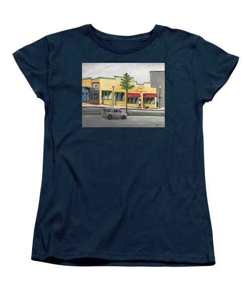 Women's T-Shirt (Standard Cut) featuring the painting Falls Church by Victoria Lakes