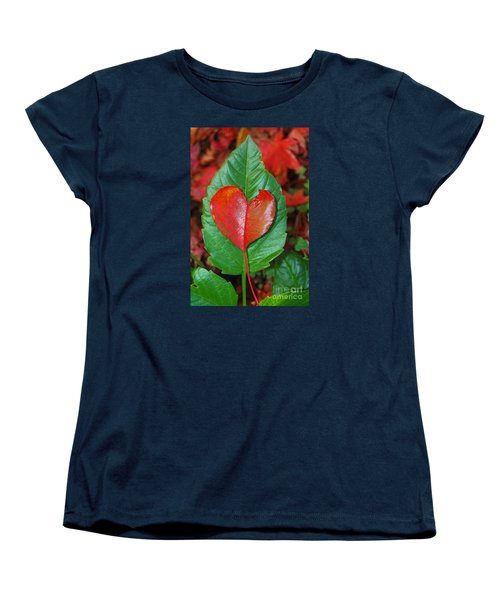 Women's T-Shirt (Standard Cut) featuring the photograph Fall's Vibrant Contrast by Debra Thompson