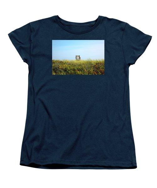 Women's T-Shirt (Standard Cut) featuring the photograph Falmouth Beach Open 9-5 by Madeline Ellis
