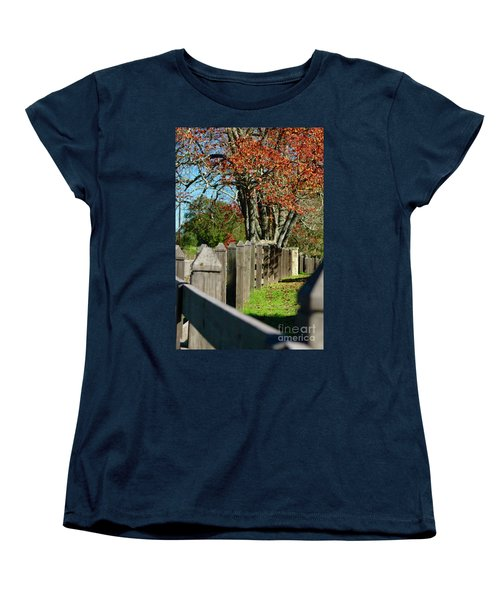 Familiar Fall Women's T-Shirt (Standard Cut) by Lori Mellen-Pagliaro