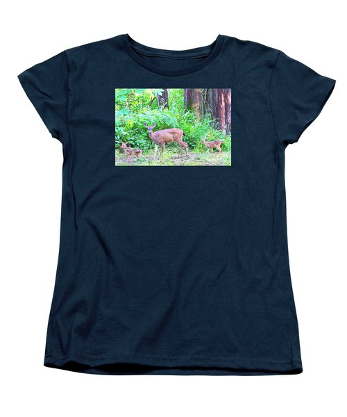 Family In The Wild Women's T-Shirt (Standard Cut) by Ansel Price