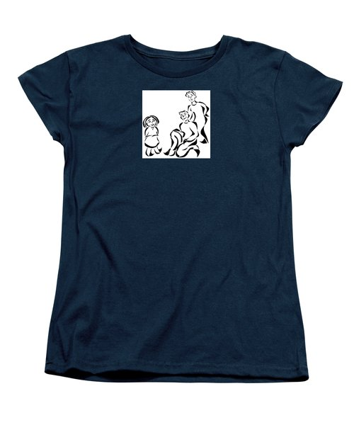 Family Time Women's T-Shirt (Standard Cut) by Delin Colon