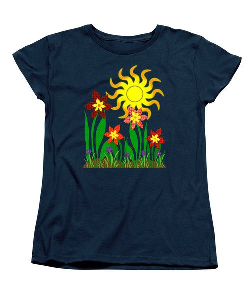 Fanciful Flowers Women's T-Shirt (Standard Cut) by Shawna Rowe