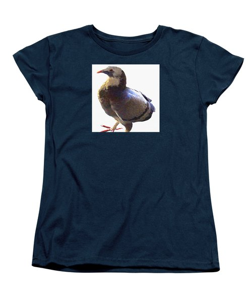 Fancy Pigeon Macro-portrait Women's T-Shirt (Standard Cut) by Merton Allen