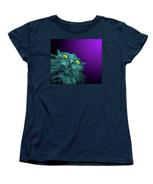 Fang Dizzycat Women's T-Shirt (Standard Cut) by DC Langer