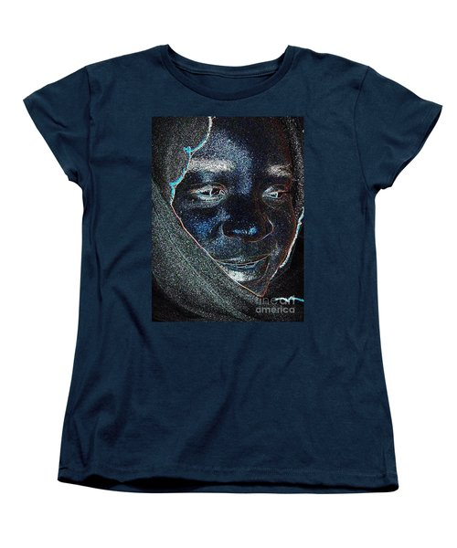 Fania Black Women's T-Shirt (Standard Cut) by Fania Simon