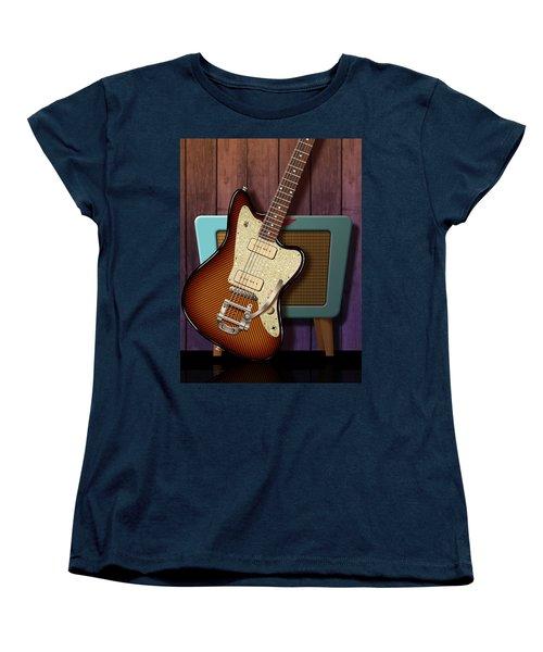Women's T-Shirt (Standard Cut) featuring the digital art Fano Retro by WB Johnston