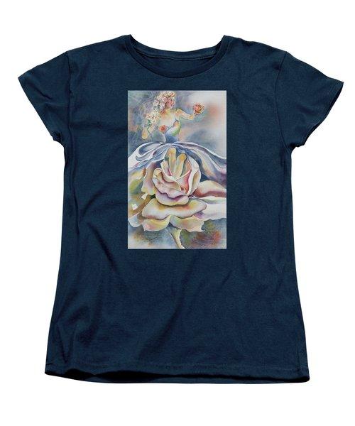 Fantasy Rose Women's T-Shirt (Standard Cut) by Mary Haley-Rocks