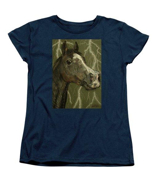 Women's T-Shirt (Standard Cut) featuring the drawing Fantasy Xanthus by Melita Safran