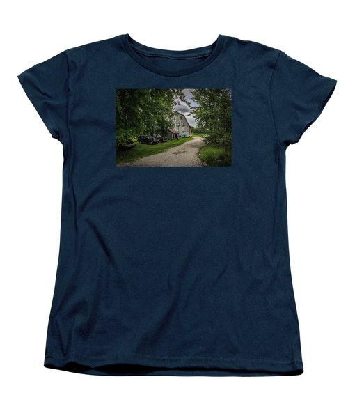 Women's T-Shirt (Standard Cut) featuring the photograph Farm Drive by Ray Congrove