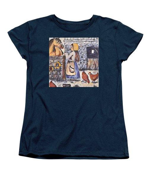 Farm Girl Women's T-Shirt (Standard Cut) by Megan Walsh